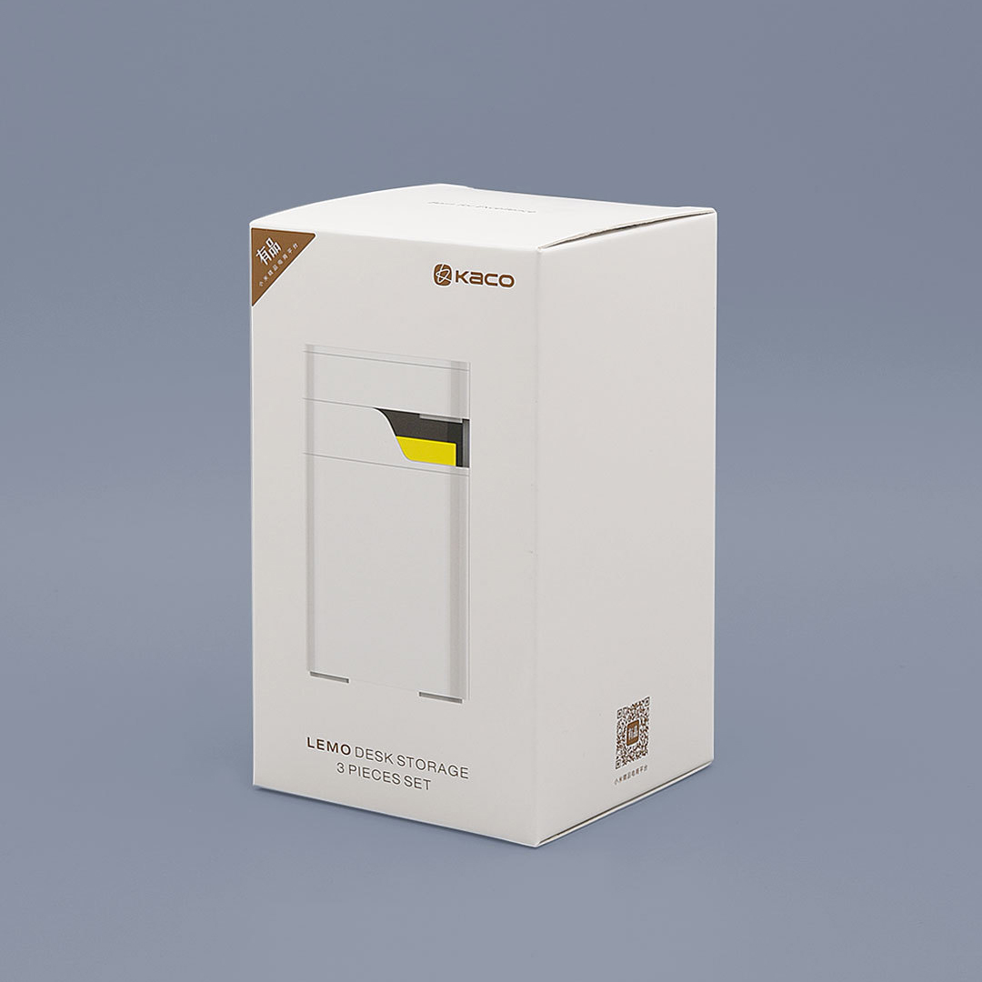 Xiaomi LEMO Desktop Organizer 3 in 1 ABS Plastic White Storage Box Card Pen