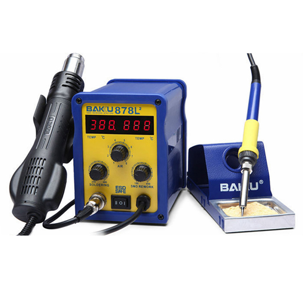 BAKU BK-878L2 700W 220V EU Plug 2 in 1 Rework Station Soldering Iron and Hot Air Gun