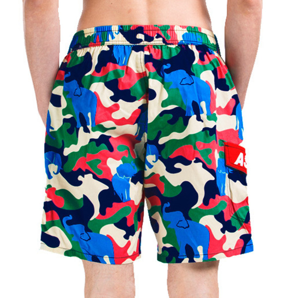 Camouflage Casual Beach Shorts Summer Mens Quick Drying Loose Surf Beach Shorts