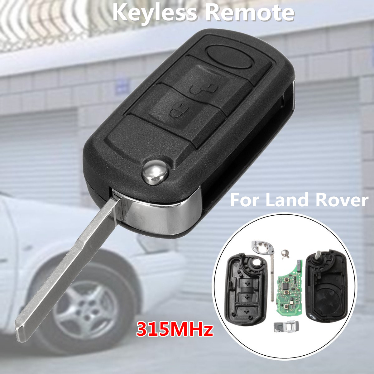Car Remote Key Fob Chip Keyless Entry Uncut Folding Flip 315MHz For Land Rover