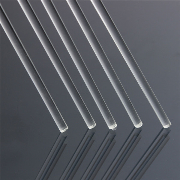 5mm Dia Clear Round Perspex Acrylic Bar PMMA Extruded Rod