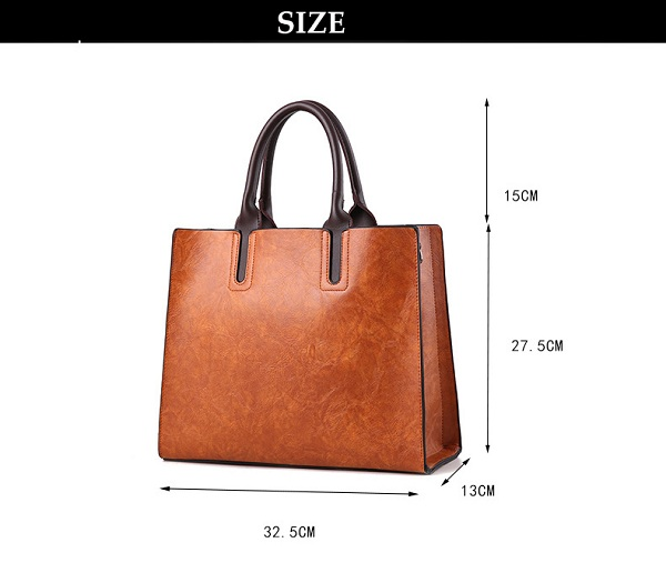 Women Quality PU Leather Daily Elegant Functional Handbag Shoulder Bag Crossbody Bag