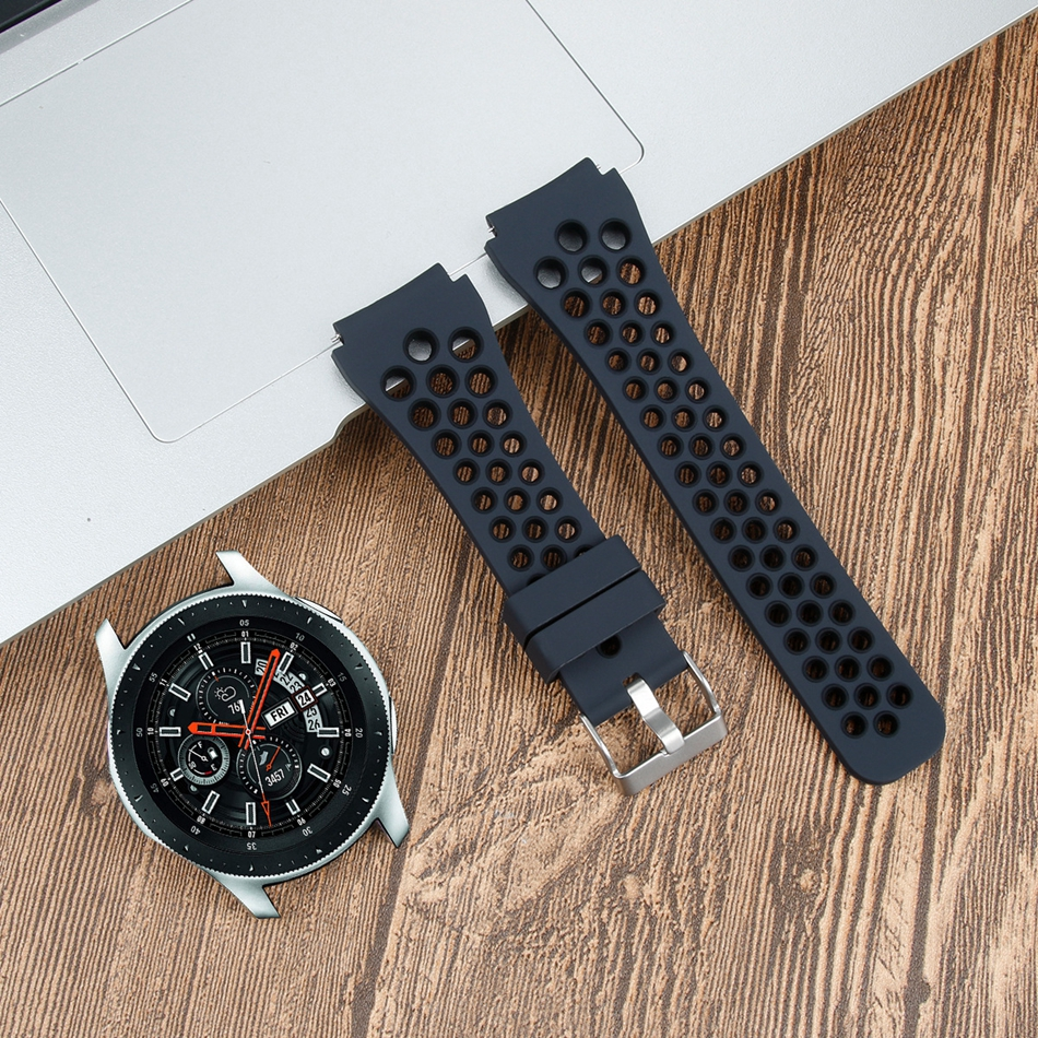Bakeey Breathable Two-color 46mm Silicone Watch Straps Watch Band for Samsung Galaxy SM-R800