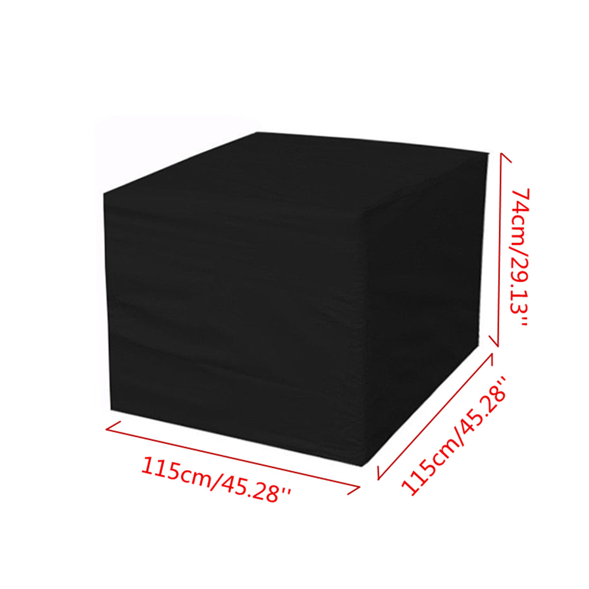 IPRee® 115x115x74cm Outdoor Garden Yard Patio Waterproof Cube Table Furniture Cover Rain Protection