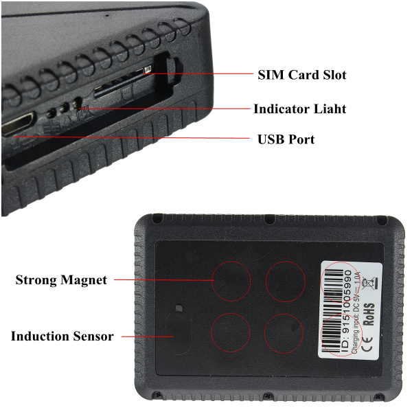 Real Time Vehicle GPS Tracker Motorcycle Locator 10000mah Battery Long Standby Devices TK915