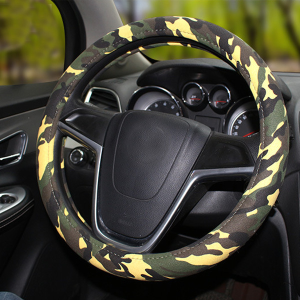 38cm Camouflage Linenette Car Steel Ring Wheel Covers Four Seasons Universal