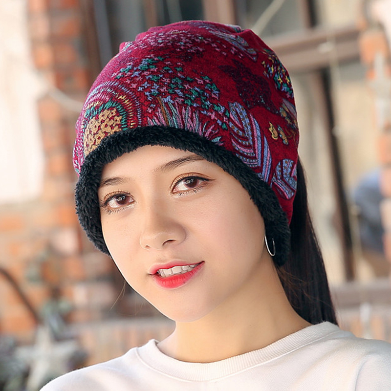 Women Warm Cashmere Thicken Beanie Hat Collar