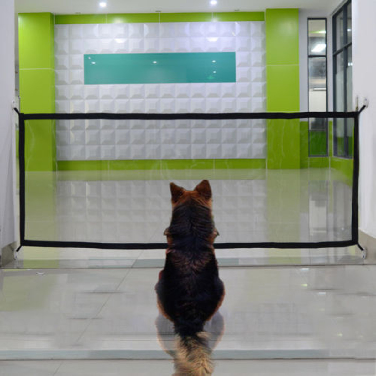 74x182cm Portable Car Magical Safety Gate Guard Fence Isolation Network for Pet Dog Puppy Cat