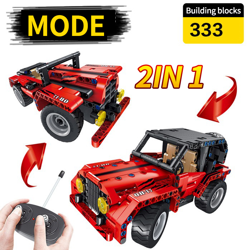 Technology Group Building Blocks Assembly Toys Puzzle Children Remote Control Car