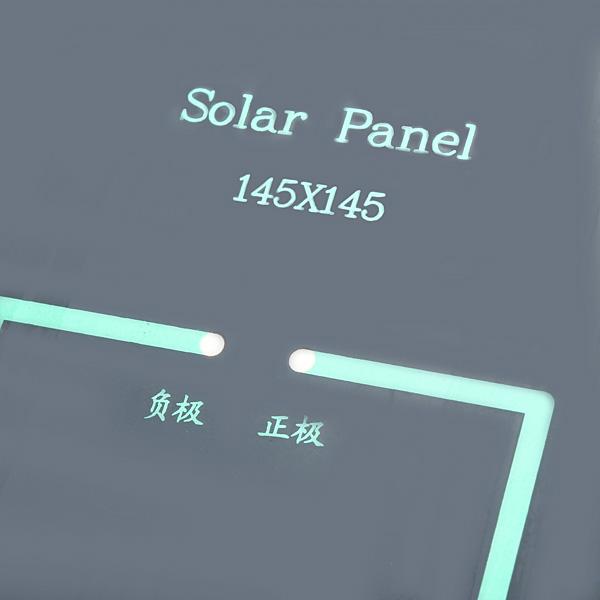 3W 12V 0-250MA 145x145x2.5mm Polysilicon Solar Panel DIY