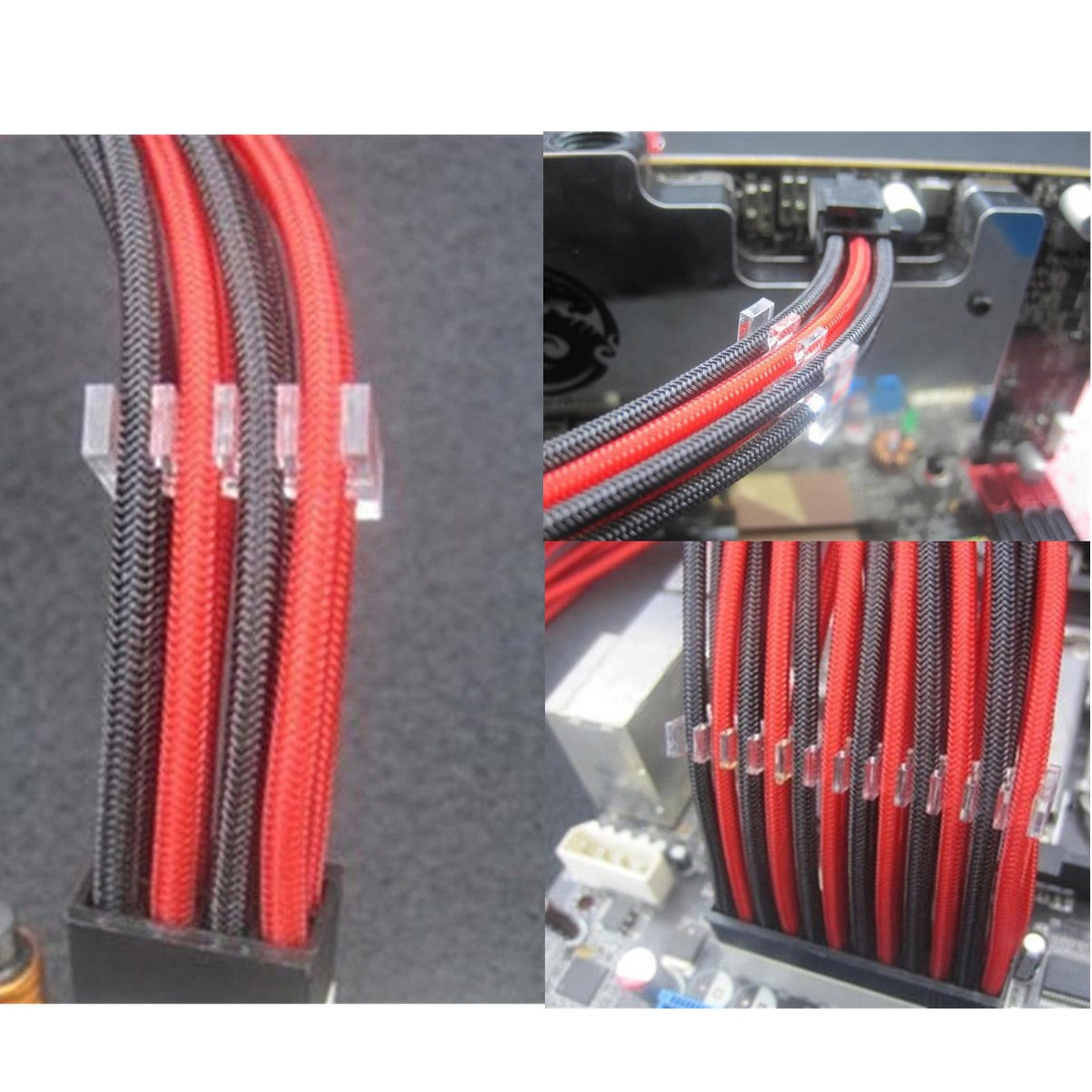 PC Cable Comb Transparent Acrylic Dresser For 3mm Cables