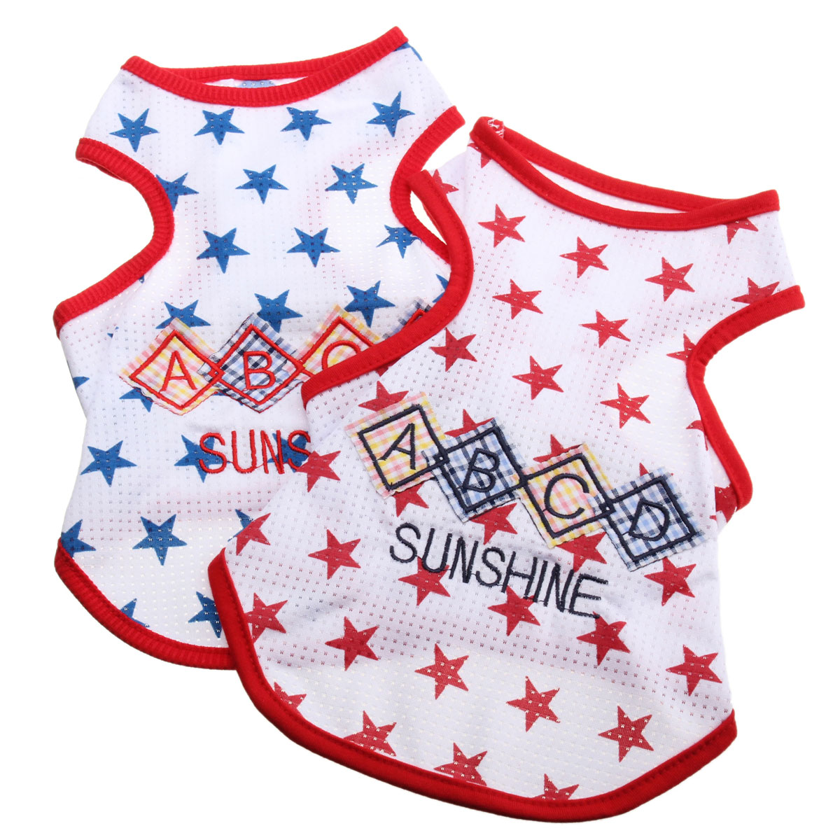 Pet Dog Cat Clothes Star Pattern Dog Vest Puppy T-Shirt Coat Pet Clothes Apparel Costumes New Spring