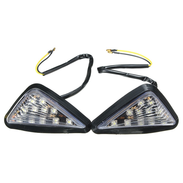 Motorcycle Clear Lens Turn Signal LED Light Indicator Lamp For Kawasaki Ninja Honda CBR Suzuki GSXR