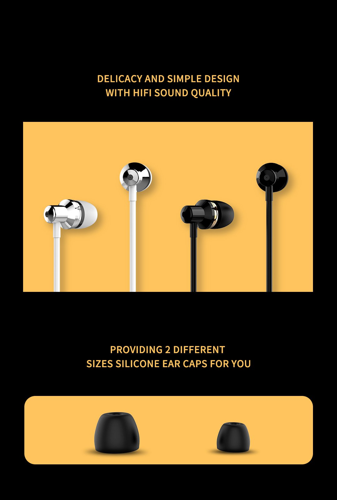 Wi90 Wired Noise Cancelling Fashion In-Ear Earphone With Mic For iPhone Xiaomi Mobile phone PS4