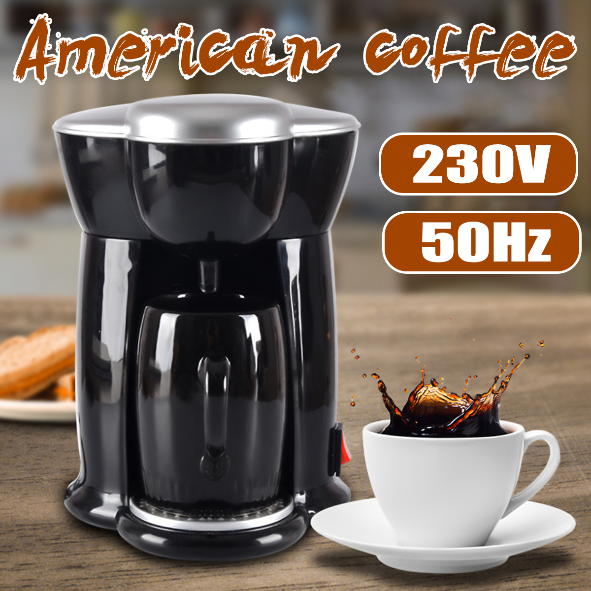 300W Mini Single Cup Drip Coffee Machine Makers Electric Automatic Espresso Machine