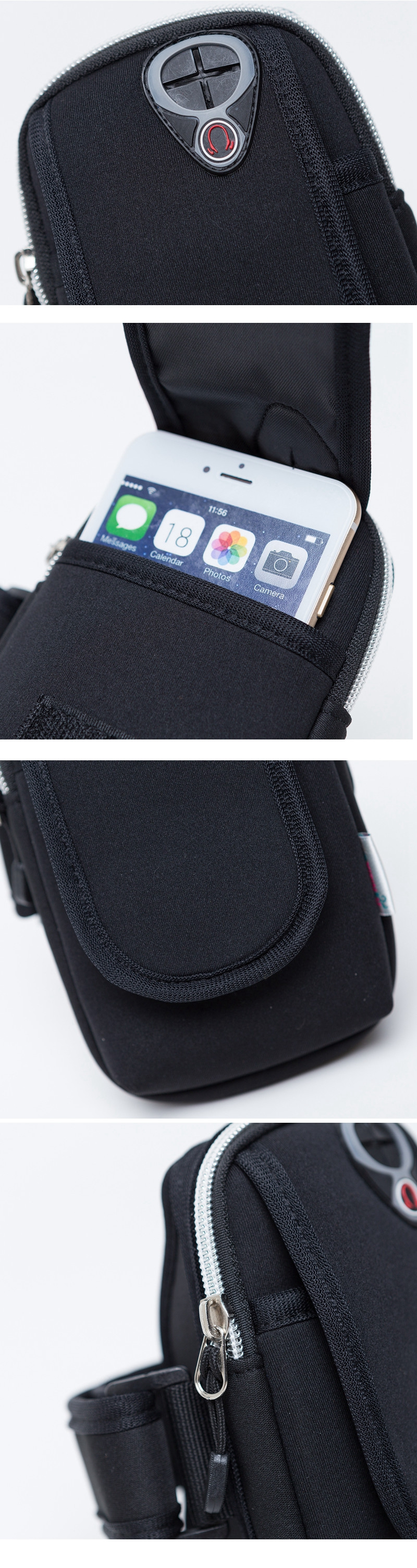Waterproof Sports Running Arm Band Holder Pouch Case for iPhone Samsung Mobile Phone Under 4.7 inch