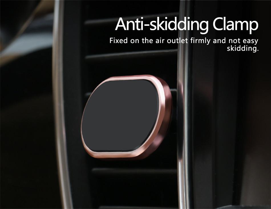 USAMS US-ZJ007 Magnetic Clip Car Air Vent Holder Desktop Mount for iPhone Xiaomi Samsung Huawei