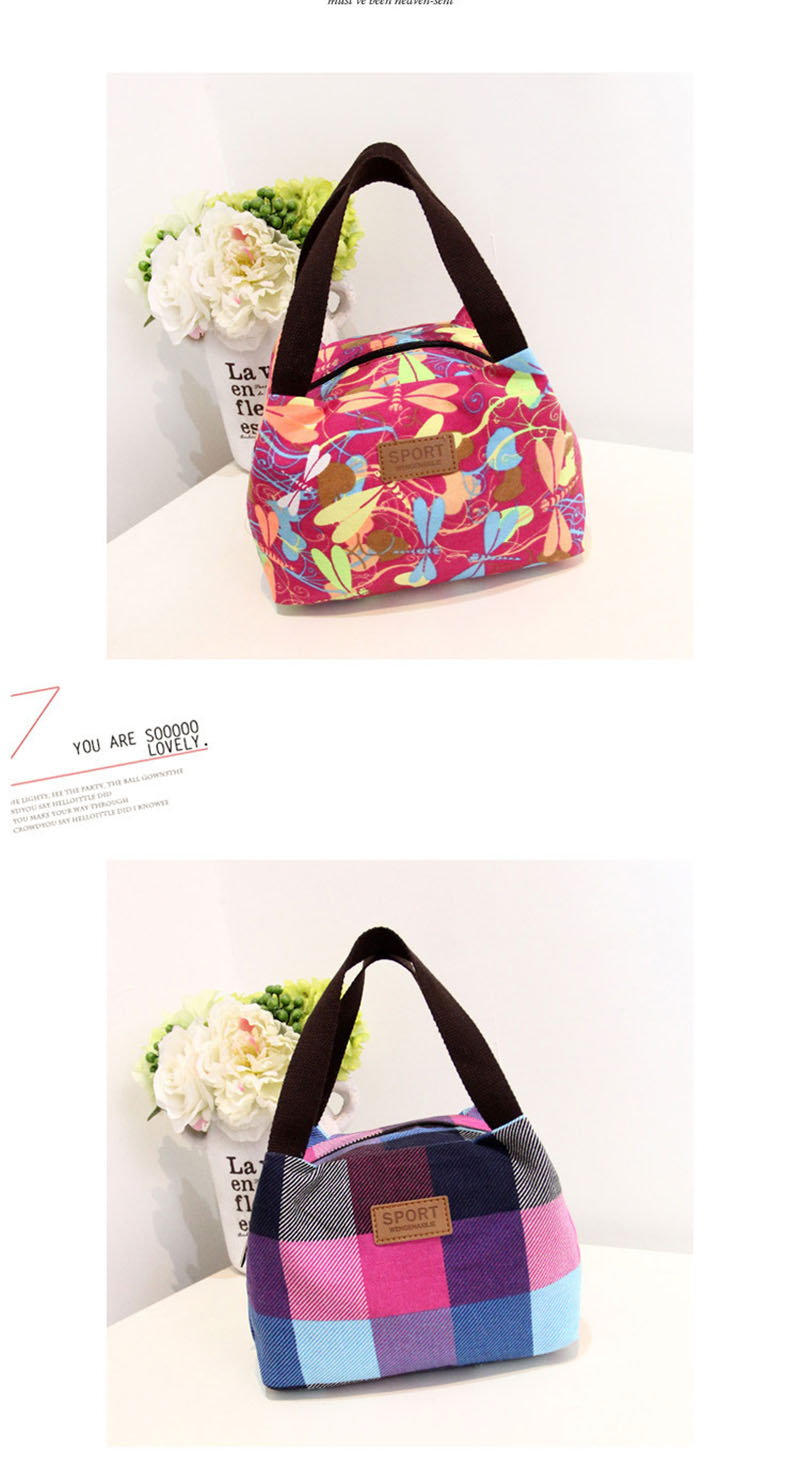 Lunch Bag Printing Portable Insulated Thermal Cooler Box Lunch Food Canvas Storage Bag Picnic Container