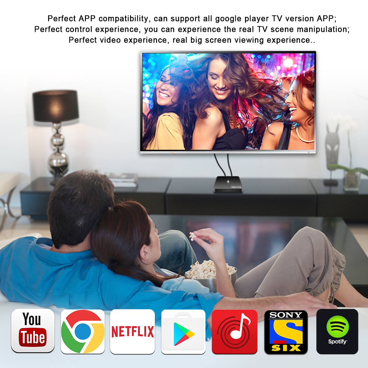 A95X Pro Amlogic S905W 2GB RAM 16GB ROM Android TV Box with Voice Control