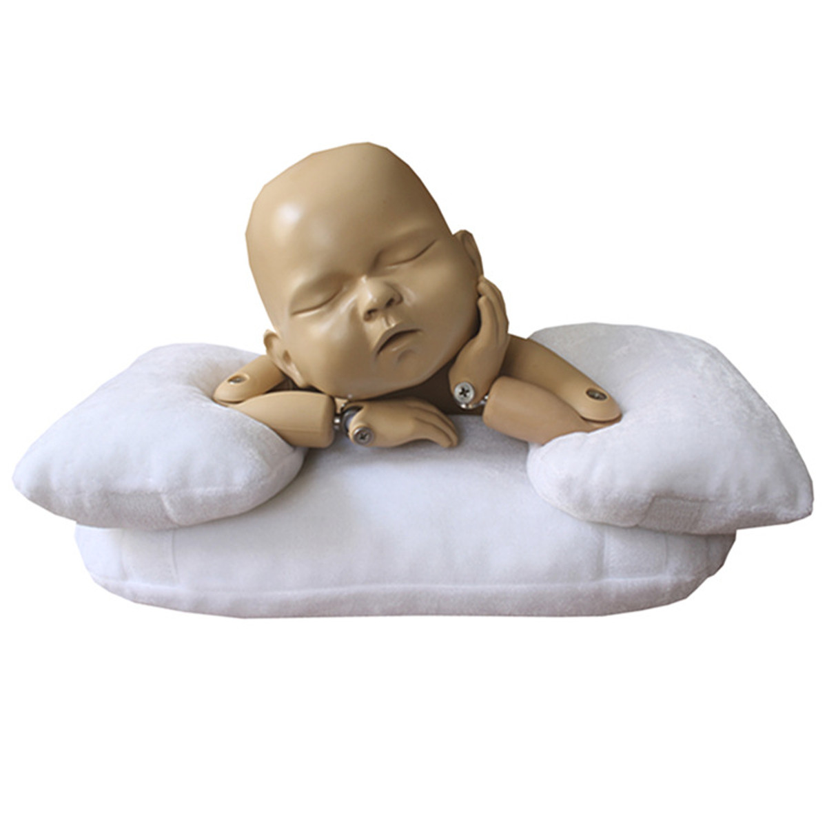 3PCS Baby Photo Shoot Posing Pillow Newborn Baby Photography Props Beanie