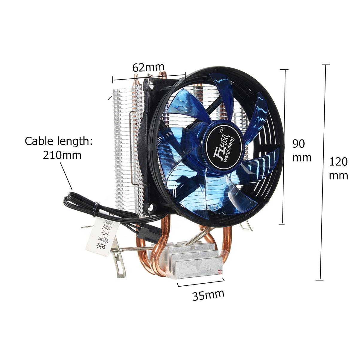 Core LED CPU Quiet Fan Cooler Heatsink Cooling Equipment For Intel Socket LGA1156/1155/775 AMD AM3 Device