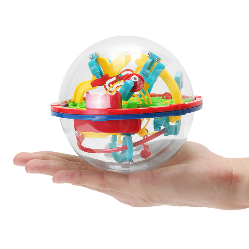 Magical Intellect Maze Ball 100 Steps Super Power Magical Ball Puzzle Gift Toy