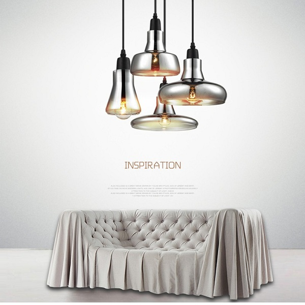 E14 Light Source Not Included Modern Glass Chandelier and Creative Pendant Light for Living Room