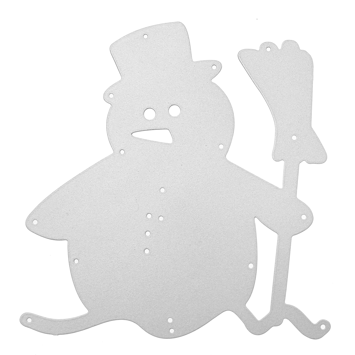 Snowman Broom Christmas Metal DIY Cutting Dies Scrapbook Photo Album Paper Card Embossing Craft