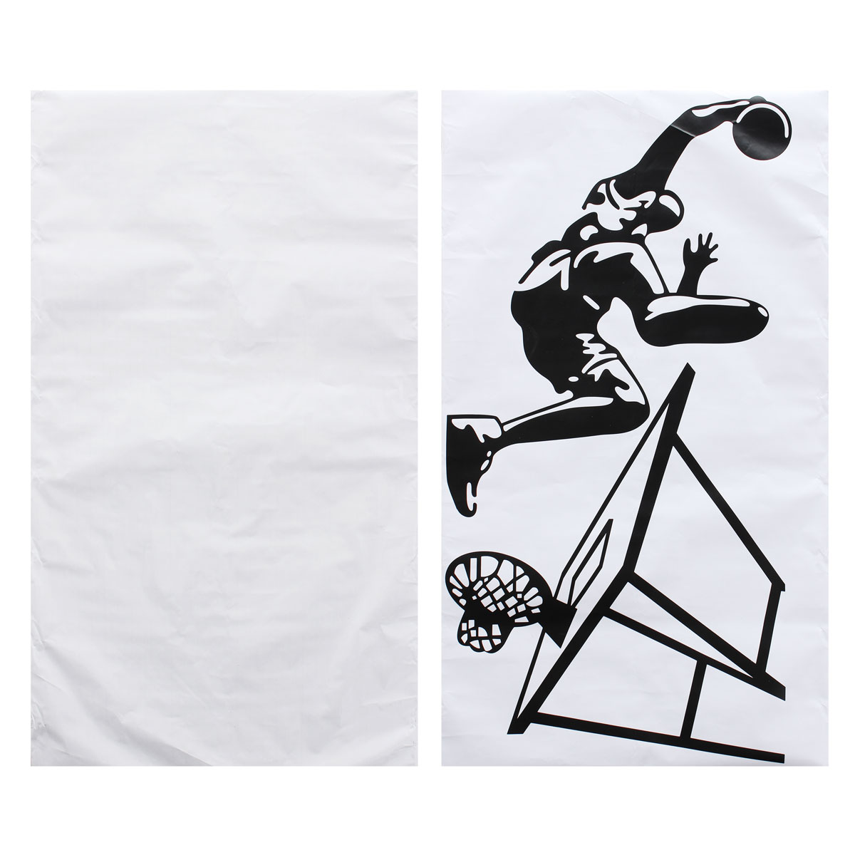 60X100CM Dunk Basketball Player Wall Sticker Removable Sports Basketball Decal Home Room Wall Decor