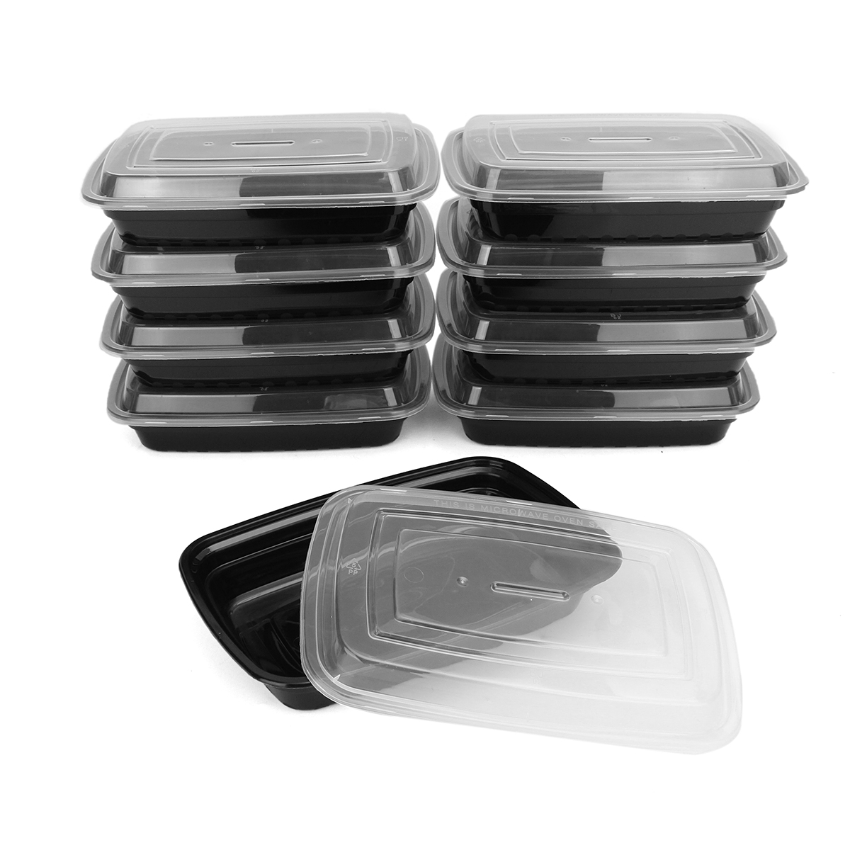 10Pcs 750ml Meal Prep Container Set Plastic Food Storag