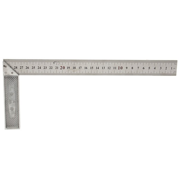 30cm 12inch Metal Engineers Try Square Set Measurement Tool Right Angle 90 Degrees Ruler