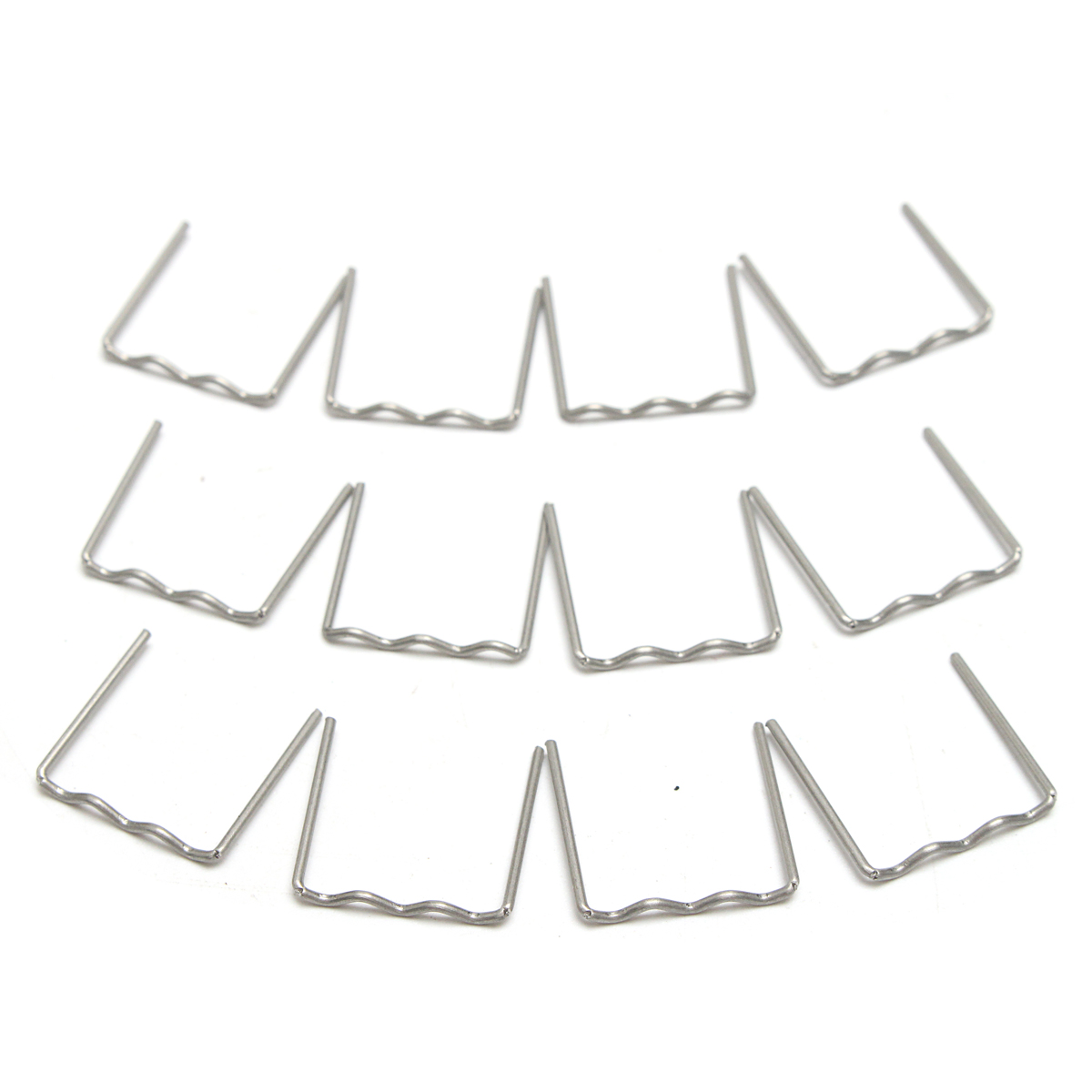 100PCS Pre Cut Flat Staples 0.8mm For Hot Plastic Staple Repair Tool For Car Repair
