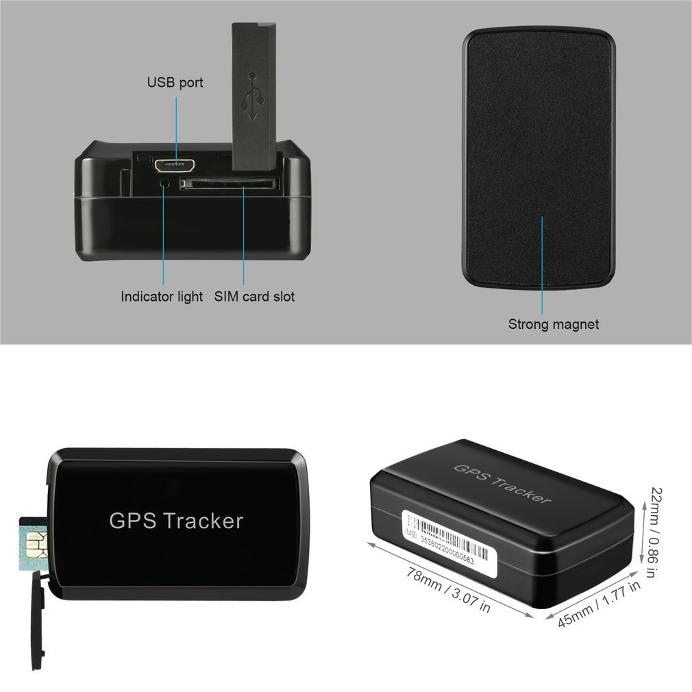 Real Time Mini TK6260 GPS/ LBS/ GSM/ GPRS Waterproof Long Standby Tracker For Motorcycle Car