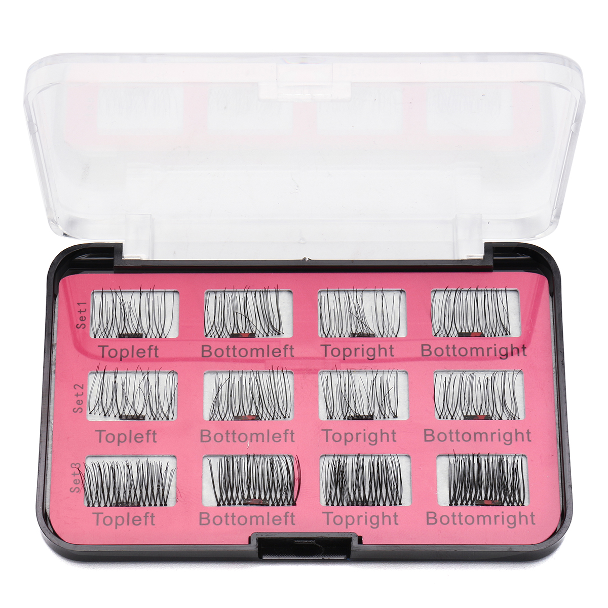 12Pcs/6 Pairs Magnetic 3D False Eyelashes
