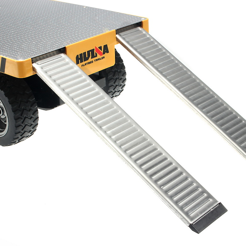 HuiNa 578 1/10 Flatbed Trailer Diecast Alloy Metal Plastic Toy Car Gift Collection
