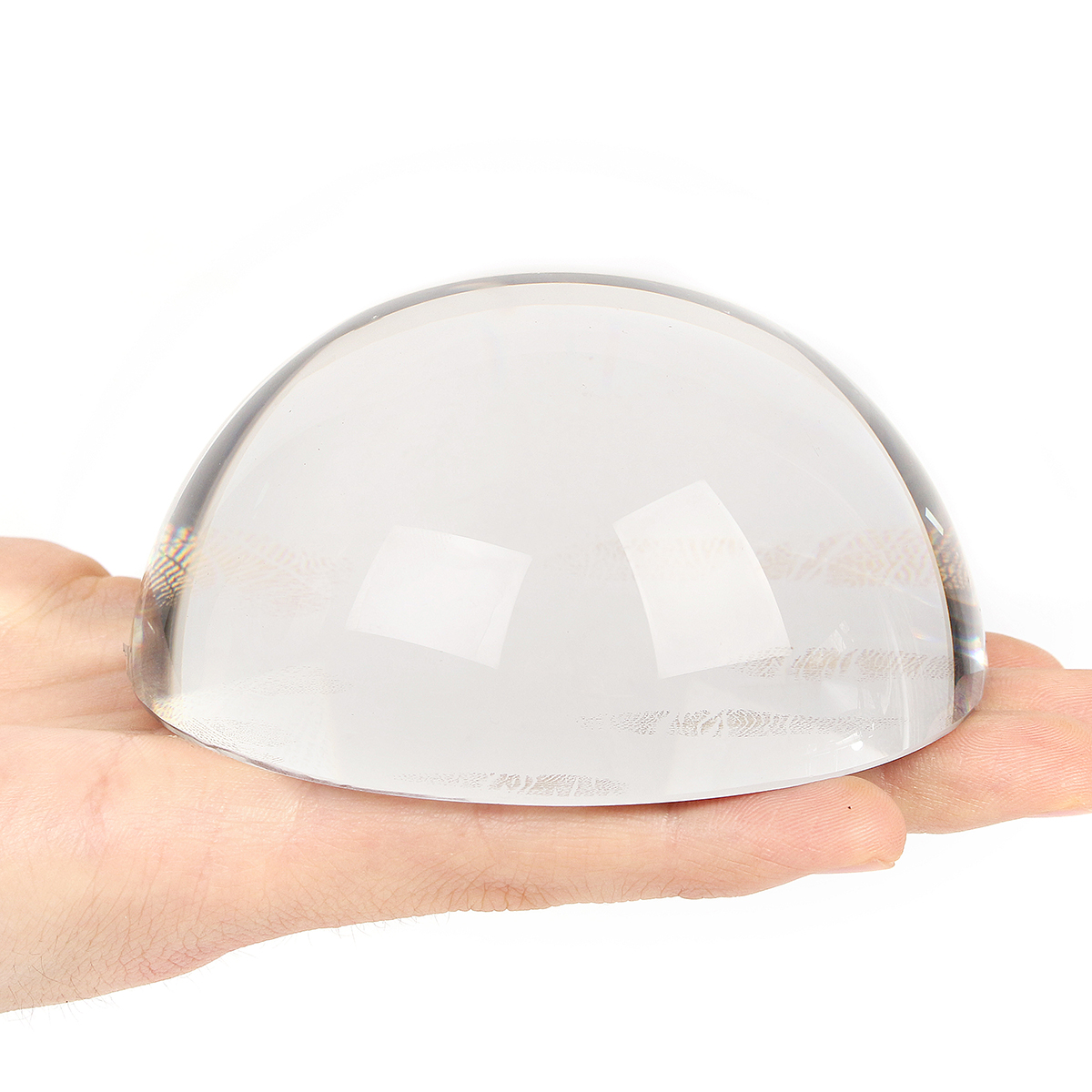 100mm Large Magnifying Glass Dome Paperweight Crystal Hemisphere Magnifier Reading Aid