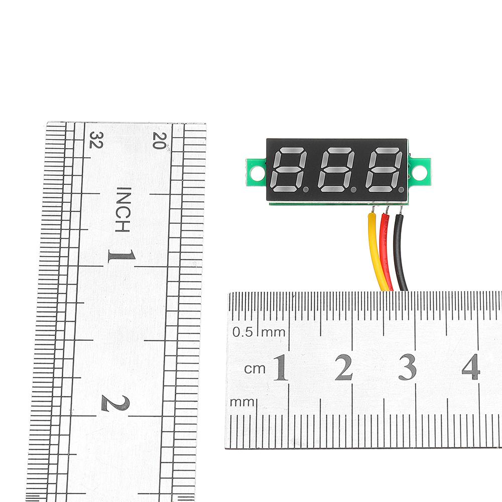 5Pcs Geekcreit® White 0.28 Inch 3.0V-30V Mini Digital Volt Meter Voltage Tester Voltmeter