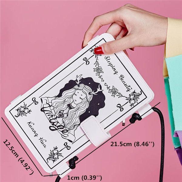 Women Cartoon Castle Shoulder Bags Girls Cute Long Wallet 5.5'' Phone Case For Iphone Samsung Huawei