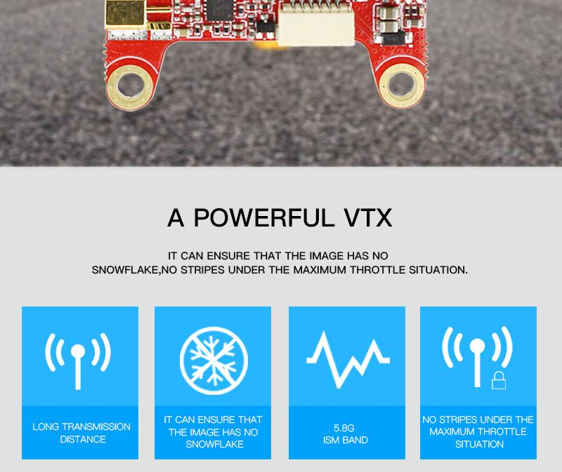 HGLRC Forward VTX 5.8G 48CH 25/50/100/200/400MW Switchable FPV Transmitter For Racing RC Drone - Photo: 2