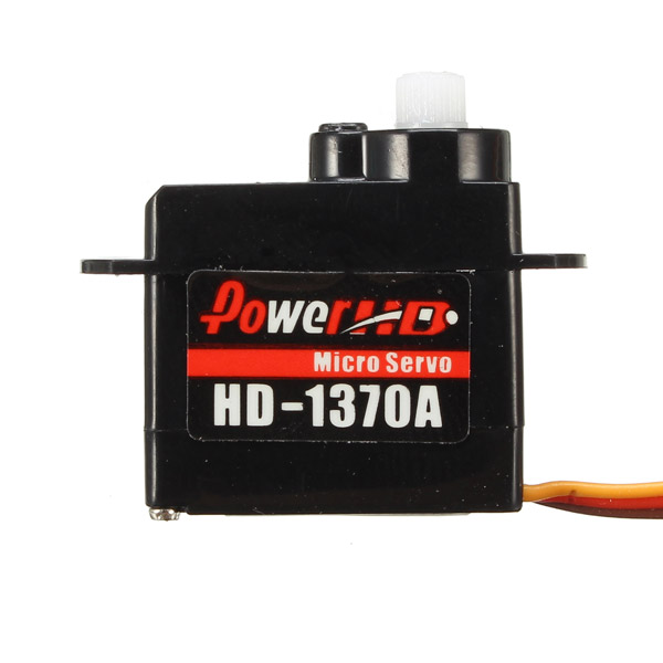 Power HD-1370A 0.6KG 3.7g Micro Steel Ring Engine Micro Servo Compatible with Futaba/JR RC Car Part