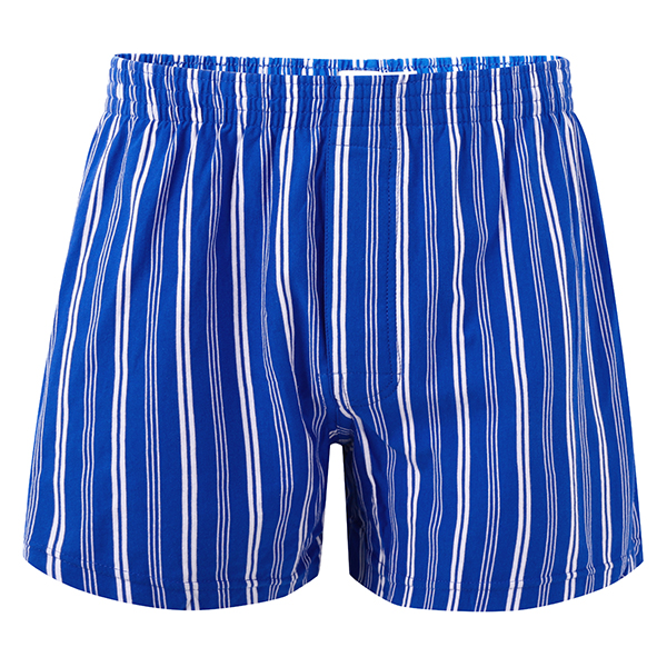 Striped Patterned Lounge Casual Home Cotton Breathable Beach Arrow Short Boxers for Men