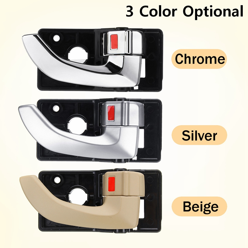4Pcs Car Inside Interior Door Handles Left And Right Set For Hyundai Tucson 2005-2009