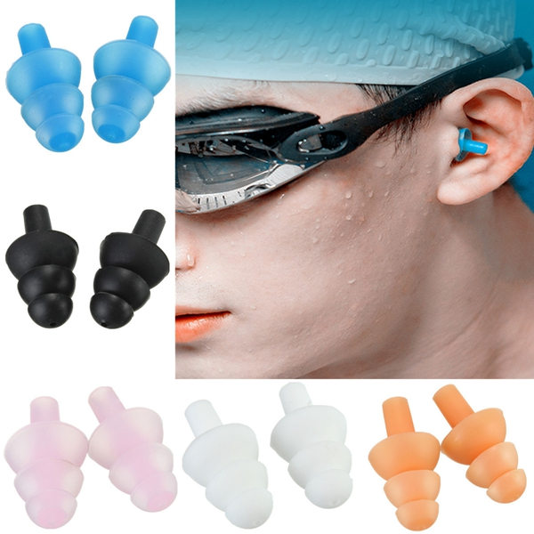 Silicone Swimming Ear Plugs Waterproof Diving Ear Plugs