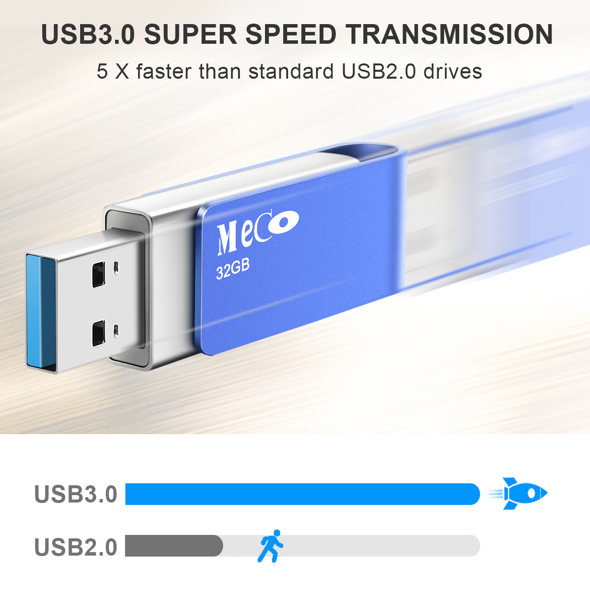 MECO USB 3.0 32G USB Flash Drive Memory Pen Drive Aluminum With Keyring USB Disk