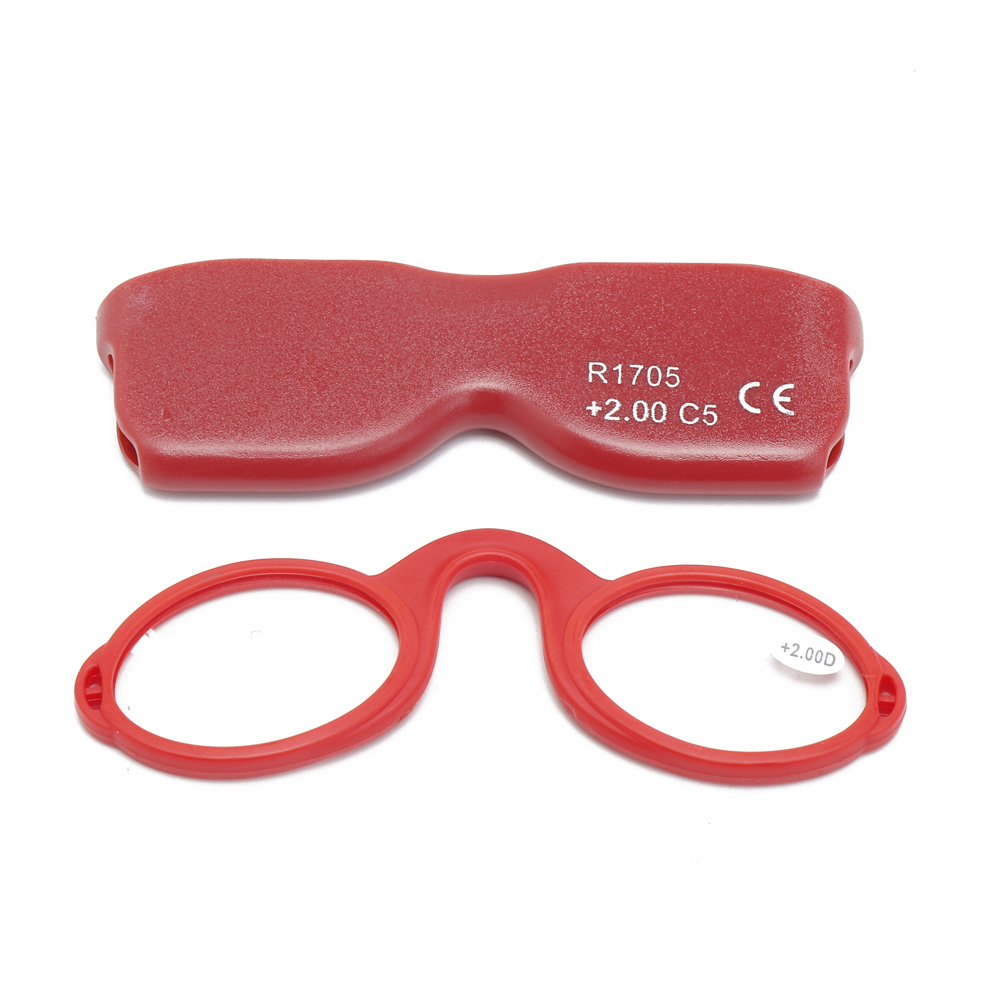 Unisex Portable Hanging Clear Lens Reading Glasses
