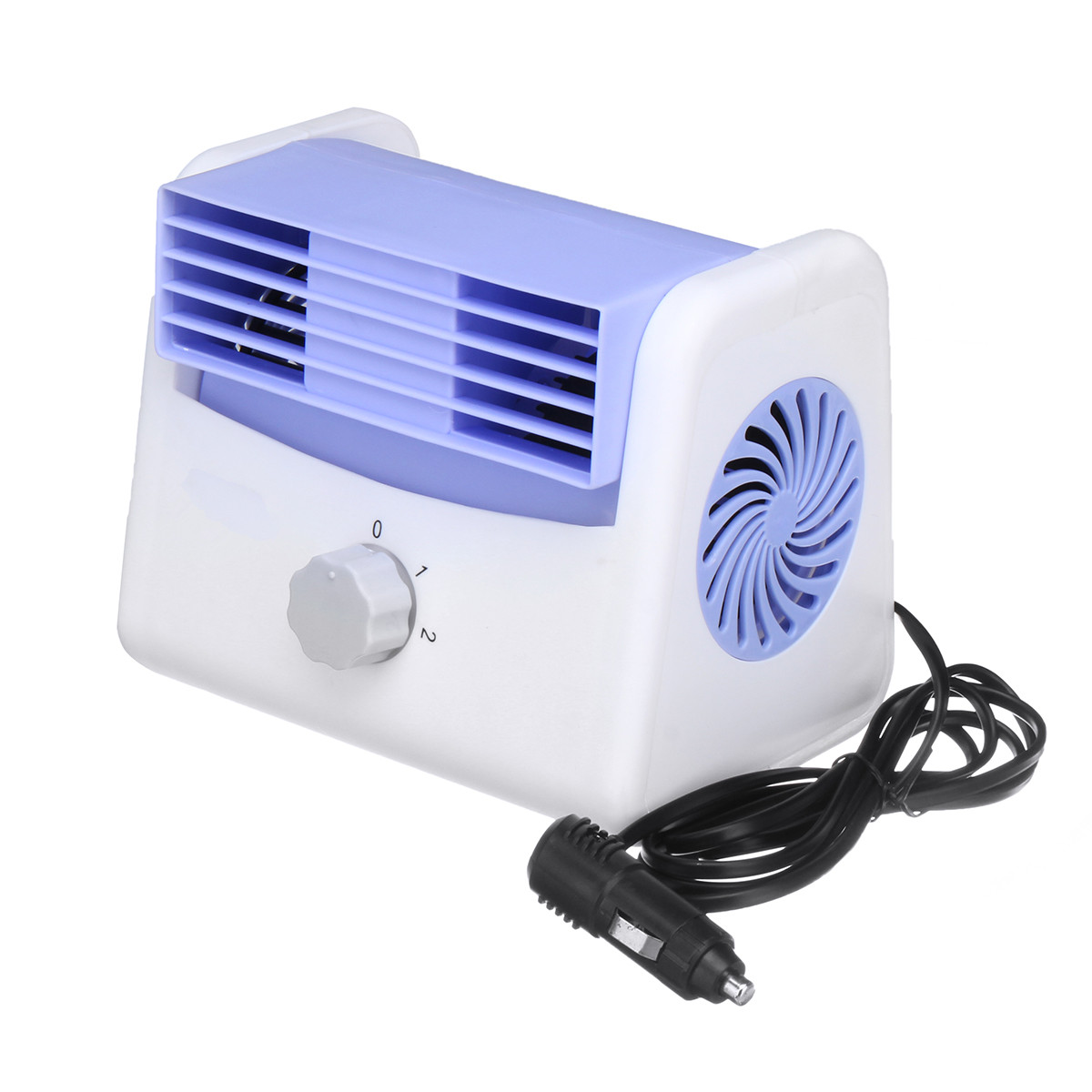 12V 24V Blue Car Leafless Air Conditioner Fan Car Fan With Charger