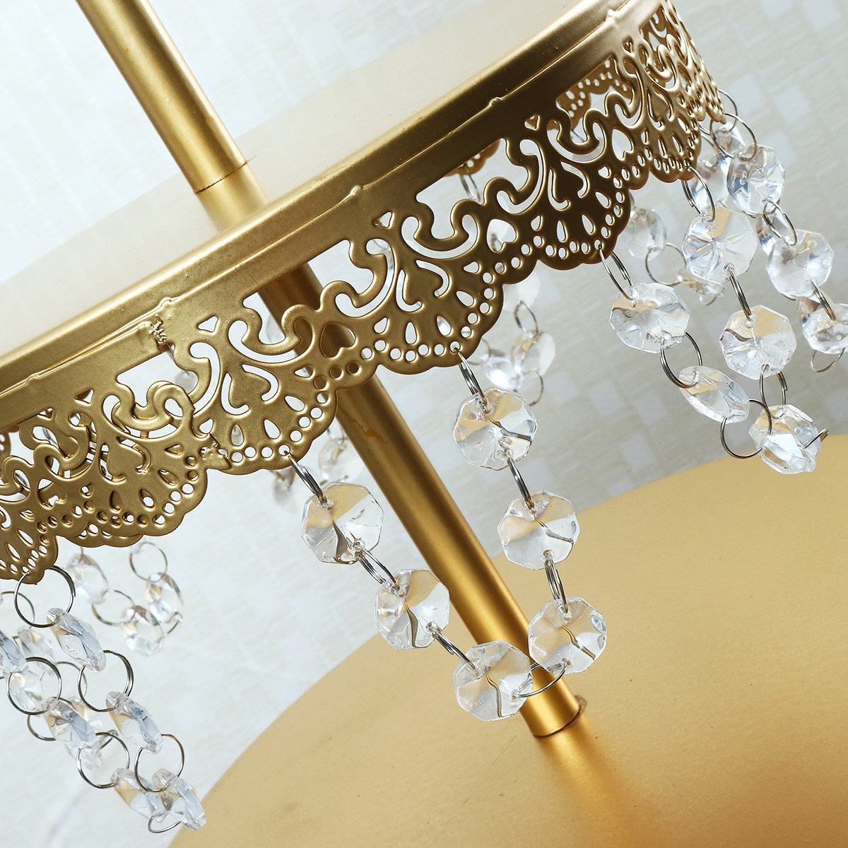 12Pcs Vintage Crystal Cake Holder Cupcake Stand Wedding Dessert Display Storage Party Decorations