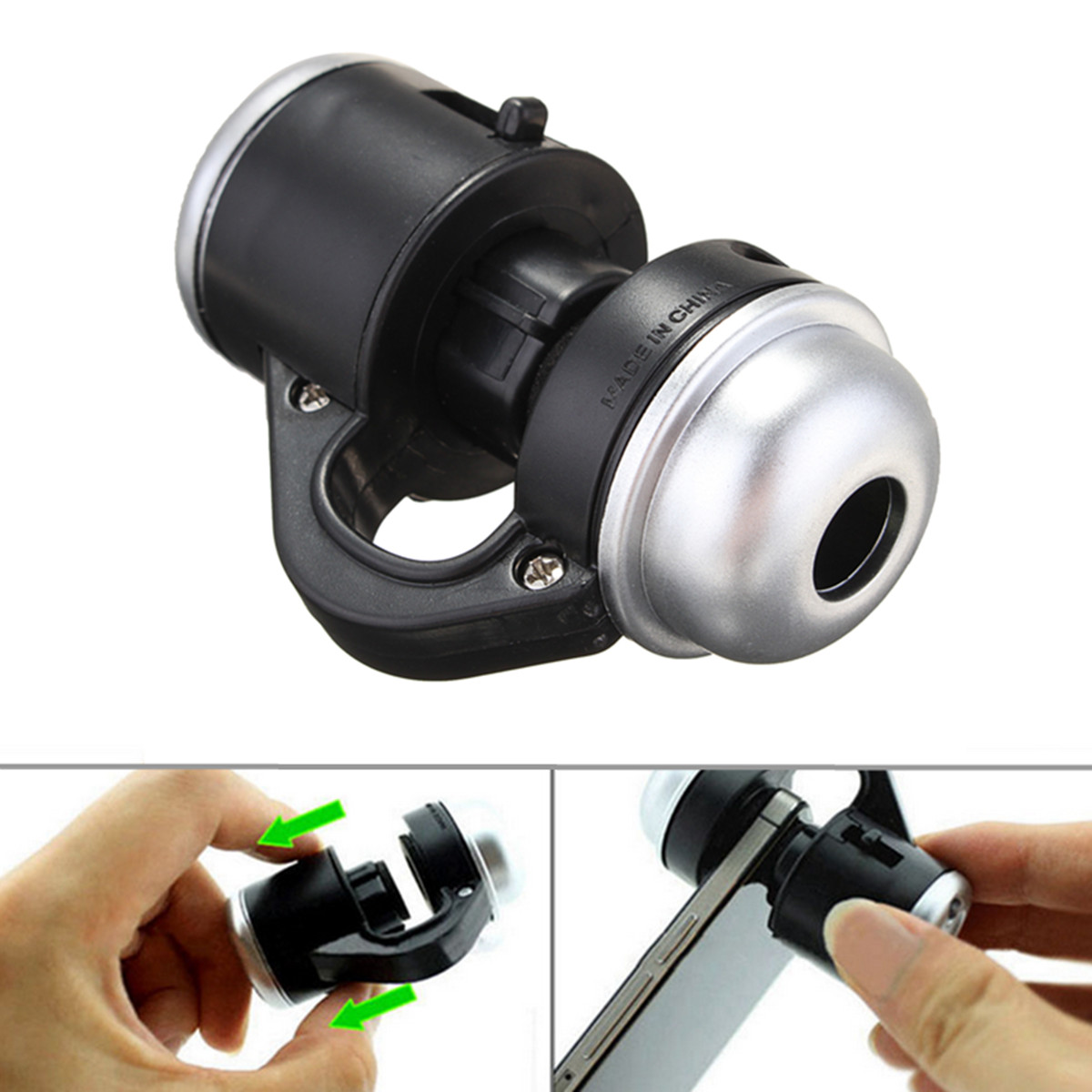 Universal 30X Zoom Cell Phone Telescope Camera LED Microscope Lens for Mobile Phone