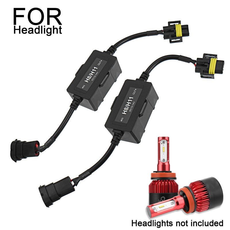 Pair 9005/9006 H8/H11 H7 LED HID Car Headlight Decoder Error Free Anti-Flicker Load Resistor