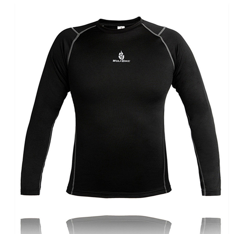 WOLFBIKE Autumn And Winter Riding Jersey Fleece Keep Warm Athletic Undergarment
